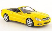 Mercedes SL   (R230) jaune   Linea Giallo 2008 Minichamps 1/43
