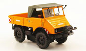 Mercedes Unimog   401 orange avec Seilwinde 1951 Minichamps 1/43