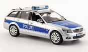 Mercedes Classe C   T Modell (W 204) police Deutschland 2007 Schuco