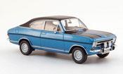 Opel Kadett B  coupe rallye bleu 1970 Schuco
