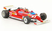 Miniature Ferrari 126 1981  CK turbo no.27 g.villeneuve gp monaco