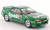 Nissan Skyline R32 miniature GT R Gr.A No.55 Kyoseki verte 1993