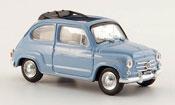 Miniature Fiat 600   D offen bleu 1960