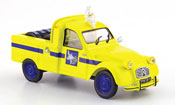 2CV pick up yellow michelin