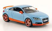 Audi TT coupe  bleu orange Schuco 1/43