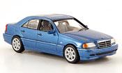 Mercedes Classe C   (W 202) blu 1997 Minichamps