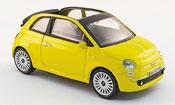 Fiat 500 C Cabriolet yellow 2009