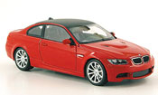 Bmw M3 E92  rouge 2007 Minichamps 1/43