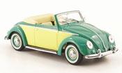 Volkswagen Coccinelle hebmuller cabriolet verde giallo 1949