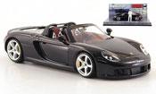 Porsche Carrera GT neroe avec Figur The Stig