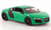 Miniature Audi R8   verte noire