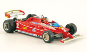 Ferrari 126 miniature 1980 C no.2 g.villeneuve test imola