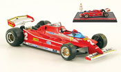 Miniature Ferrari 126 1980  C turbo no.2 g.villeneuve test gp italien