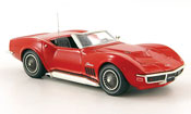 Corvette Stingray 427 Cabriolet rouge 1968