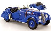 Bmw 328 miniature 1938 roadster bleu