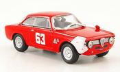 Alfa Romeo Giulia miniature 1300 GTA sprint gta no.63 de adamich 4h monza 1966