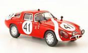 Miniature Alfa Romeo Giulia TZ2  no.41 sala biscaldi 24h le mans 1964