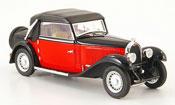 Bugatti 49 convertible red black geschlossen 1934