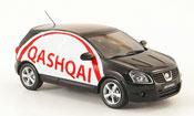 Nissan 350Z miniature JGTC Qashqai noire Werbefahrzeug Linkslenker 2007