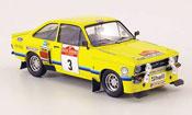 Miniature Rallye Ford Escort RS 1800 Tarmac No.3 Rally San Remo 1975 MK2
