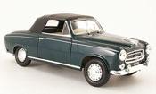 Peugeot 403 Cabriolet miniature verte avec capote 1957