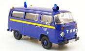 Volkswagen Combi t2b bus thw nurnberg blue yellow