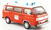 Volkswagen Combi t3b bus pompier red white