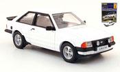 Ford Escort XR3 miniature blanche MK3