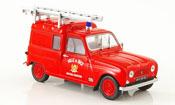 Renault 4L   fourgonette pompier nizza 1965 MCW 1/43