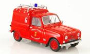 Renault 4L   fourgonnette pompier d annonay 1965 MCW 1/43