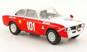 Alfa Romeo Giulia 1600 GTA miniature no.101 targa florio 1971