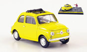 Fiat 500 yellow avec Figur Lupin the 3rd   Wanted