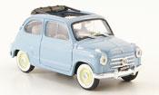 Fiat 600 (Serie 1) greyblue offen 1956