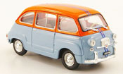 Miniature Fiat 600   D Multipla bleu orange 1966