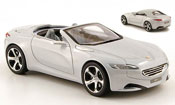 Peugeot SR1 miniature grise inklusive hard top concept car genf 2010