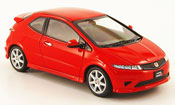 Honda Civic Type R miniature rouge RHD