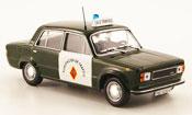 Seat 124 d guardia civil trafico police 1977