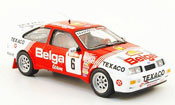 Miniature Rallye Ford Sierra Cosworth RS Cosworth No.6 Belga Sieger Rally Ypres 1988