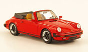 Porsche 911   Carrera 3.2 Cabriolet rouge offen Look Smart