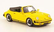 Porsche 911   Carrera 3.2 Cabriolet jaune offen Look Smart 1/43