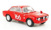 Alfa Romeo Giulia miniature 1600 GTA no.166 targa florio 1965