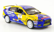 Miniature Mitsubishi Lancer Evolution X  No.2 Kathrein Sieger ADAC Rally 2009