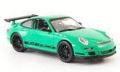 Porsche 997 GT3 RS verdee avec neroeen Streifen