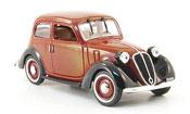 Fiat 1100 1937 miniature Nuova Balilla red black