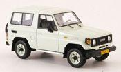 Toyota Land Cruiser miniature blanche 1985