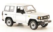 Toyota Land Cruiser miniature grise metallisee liavec. auflage 300 1985