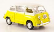 Fiat 600   Multipla jaune cremeblanche MCW