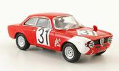 Alfa Romeo Giulia miniature 1600 GTA no.31 verona 1967