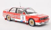 Bmw M3 miniature E30 No.1 Bastos Boucles de Spa 1988 P.Snijers/grise.Colebunders