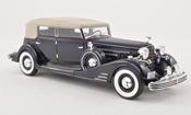 Cadillac Fleetwood miniature Allweather Pheaton noire-bleu limitee edition 300 piece 1933